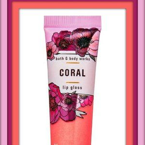 Bath & Body Works Coral Lip Gloss 47 oz 14 ml